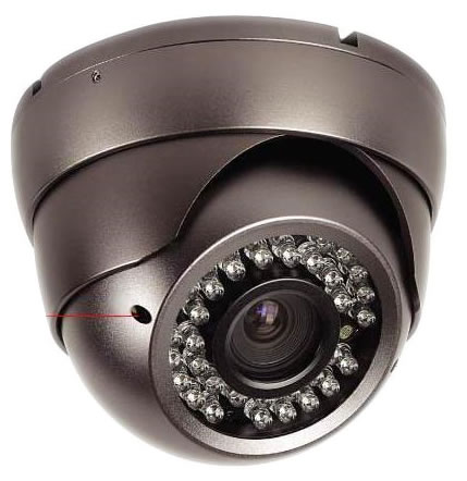 Indoor/Outdoor Dome Camera with varifocal lens, day/night,<br>Vandal Proof, available in 420TVL to 600TVL
